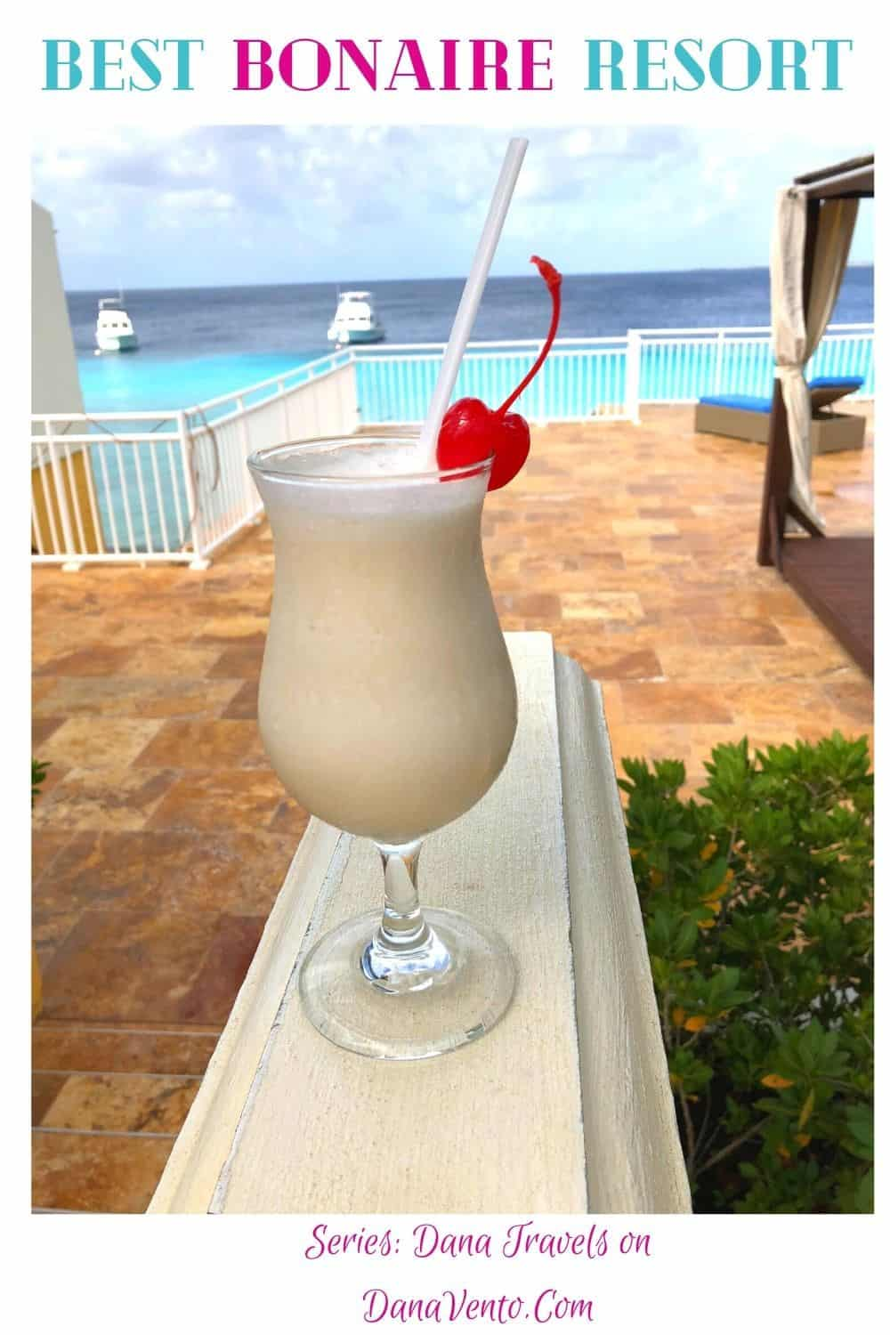 Best Bonaire Resort Pina Coloda- What is a Day in Bonaire without a drink?