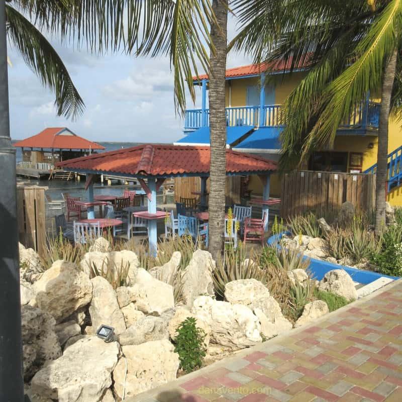 Cocktails before a Dive or the waiting zone! Divi Flamingo Bonaire
