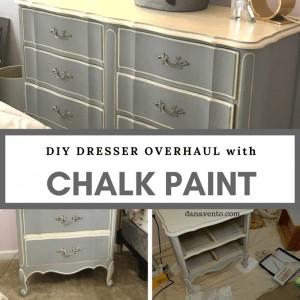 DIY: Stunning 2-Color Chalk Paint Bedroom Furniture Makeover