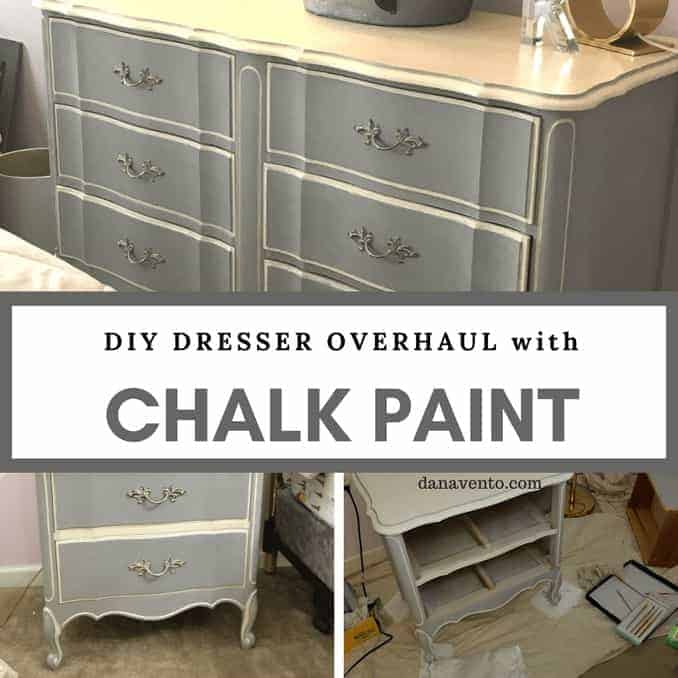 DIY: Stunning 2-Color Chalk Paint Bedroom Furniture Makeover