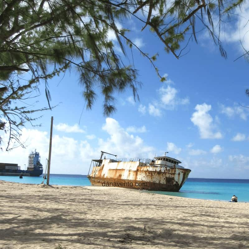 Wrecked Ship at Governor's beach. Discover Grand Turks