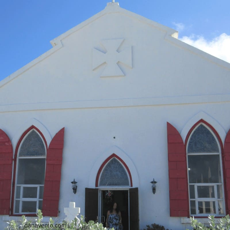 Church in Cockburn as we Discover Grand Turk - St. Mary's Church Cockburn Town
