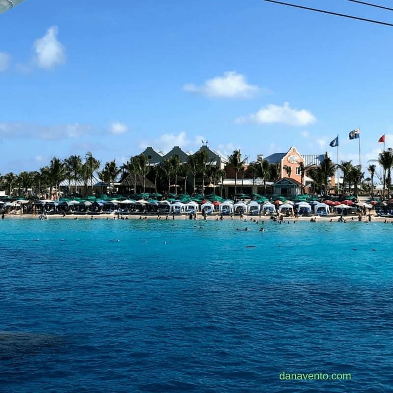 Grand Turk Beach and cabanas at port of call