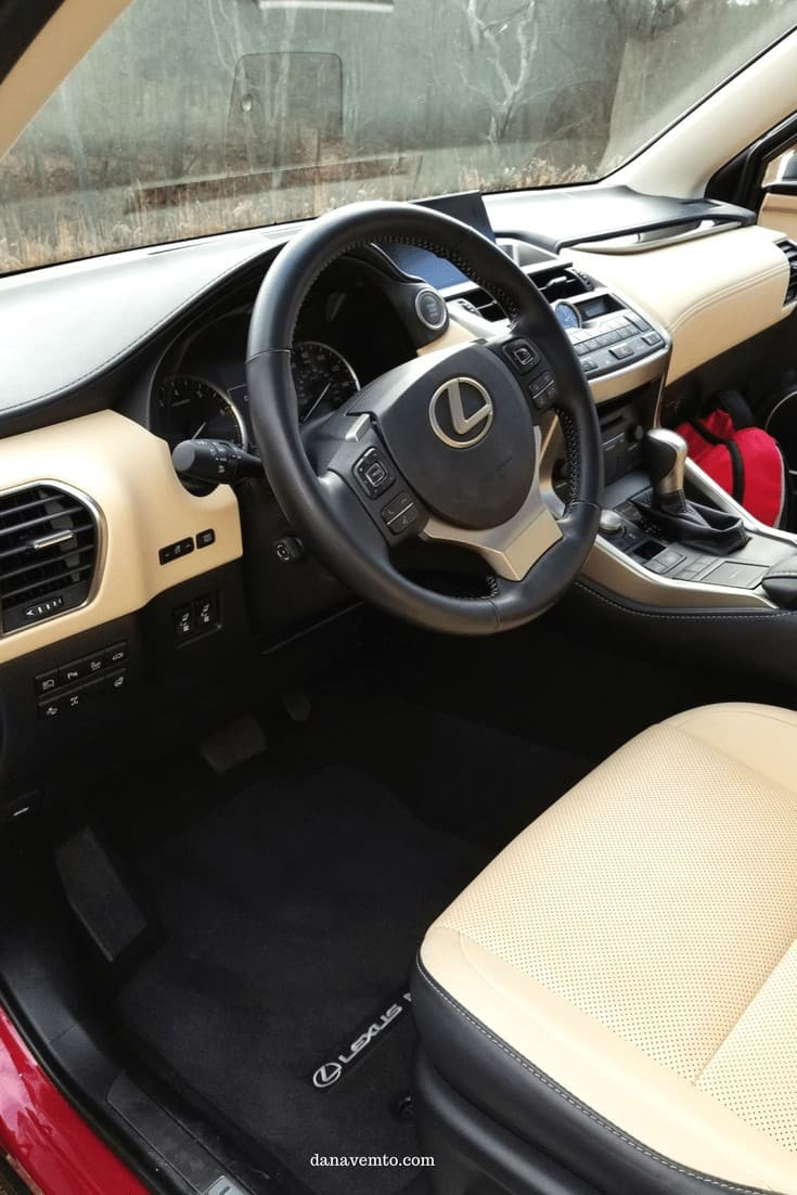 Interior of the Lexus NX