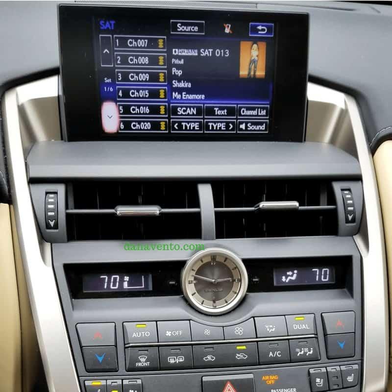 Lexus NX 200t navigation screen 4.2