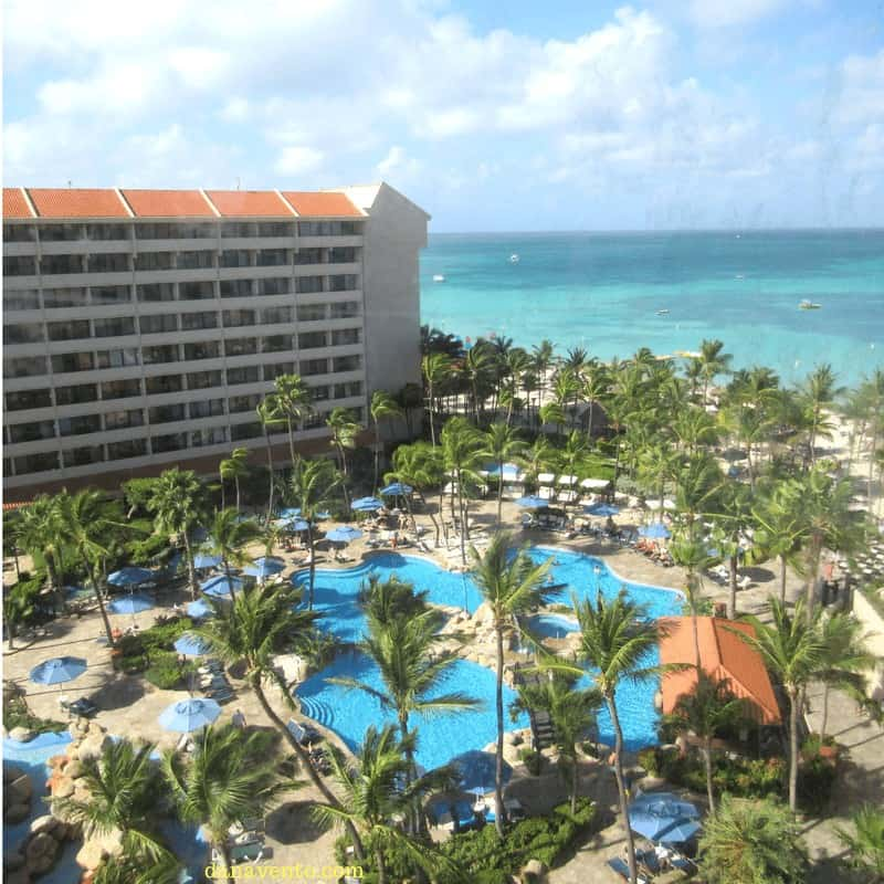 A view of the Barcelo Resort on Palm Beach Aruba from the Royal Level