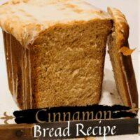 Cinnamon Bread Sliced Open