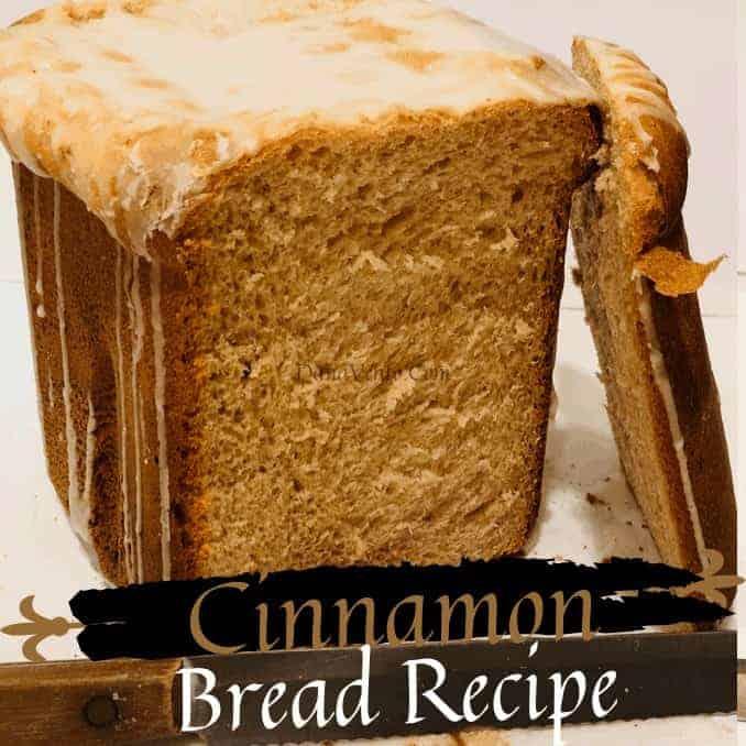 cinnamon bread loaf sliced open