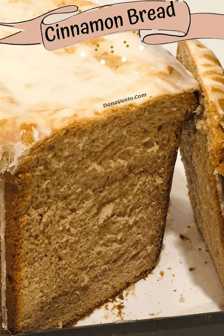 cinnamon bread sliced and up close