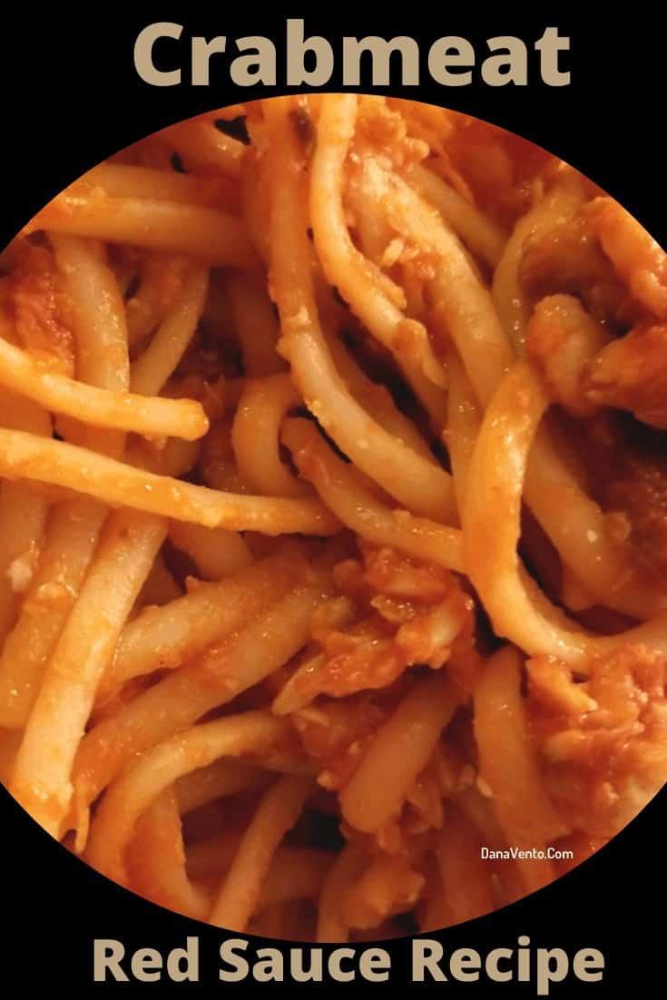crabmeat sauce crabmeat pasta feature on plate