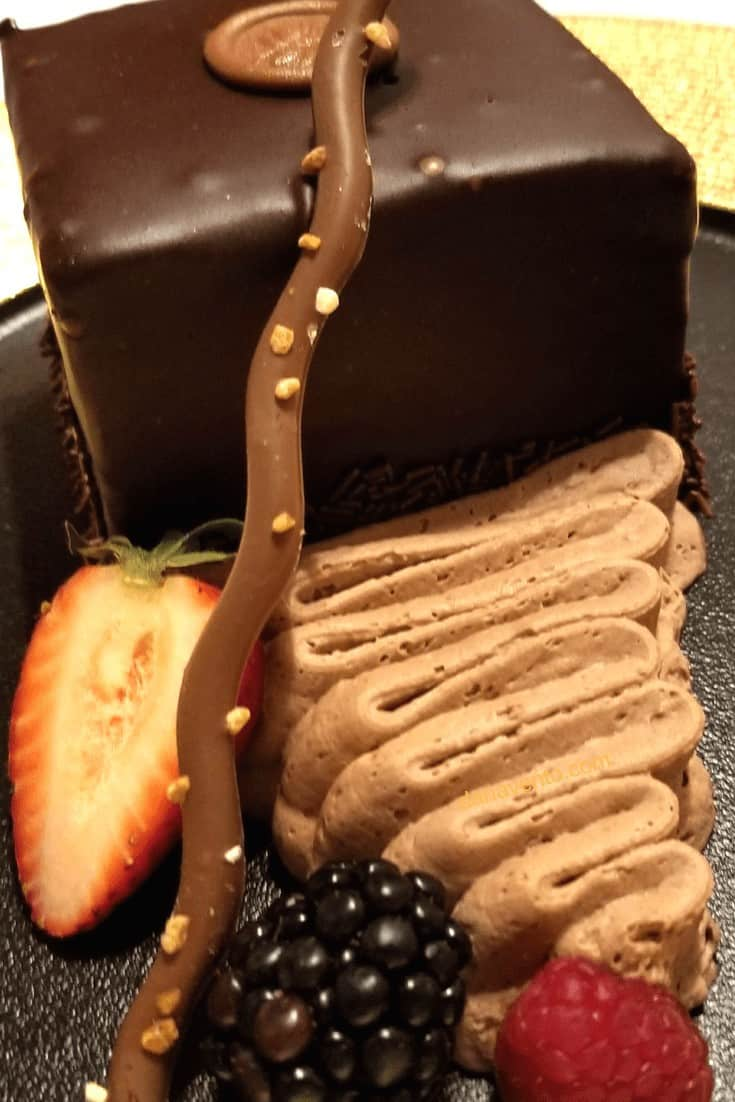 Chocolate Swoon-worthy Cake. Spectacular Vegas Steakhouse