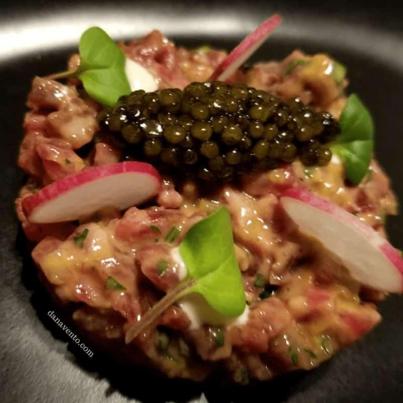 Wagyu Beef Tartare \ Kaluga caviar, truffle aioli - Spectacular Vegas Steakhouse. The Edge Steakhouse