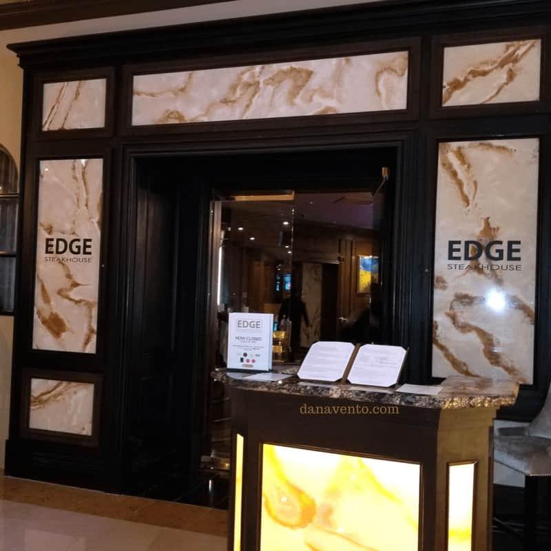 Spectacular Vegas Steakhouse The Edge Steakouse Entrance