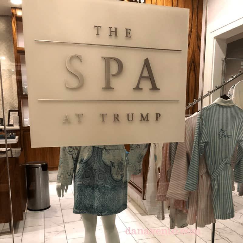The Spa at Trump sign