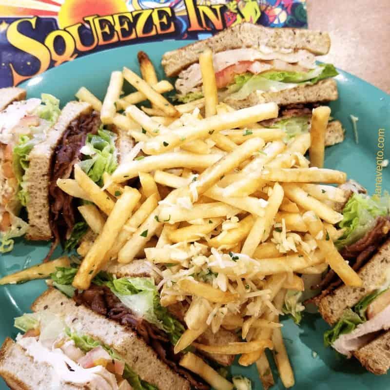 Turkey club with fries