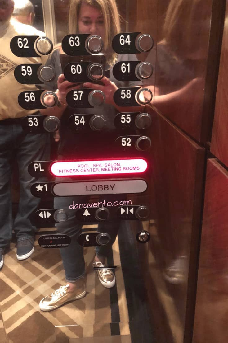Elevator panel with spa floor button