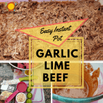 Easy Instant Pot Shredded Garlic Lime Beef