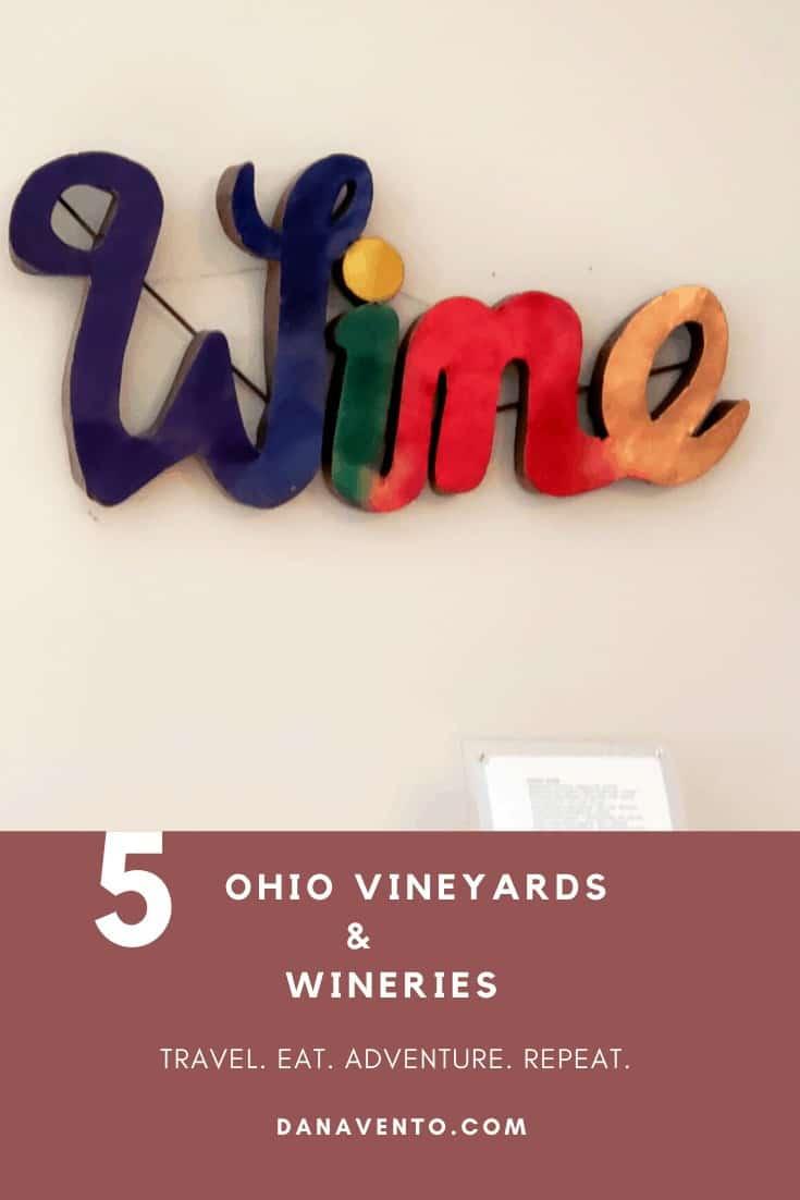 St. Joseph Vineyards. Ohio Wine Country WINE SIGN