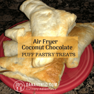 Air Fryer Coconut Chocolate Puff Pastry Treats