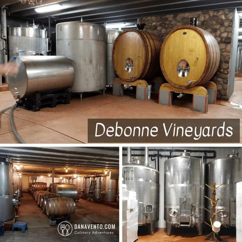 Barrels of wine. Wine Country in Ohio at Debonne Vineyards