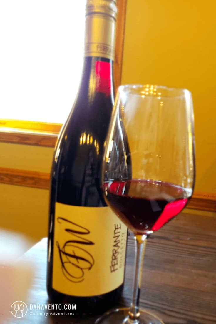 Wine Country in Ohio Wine On table. Ferrante