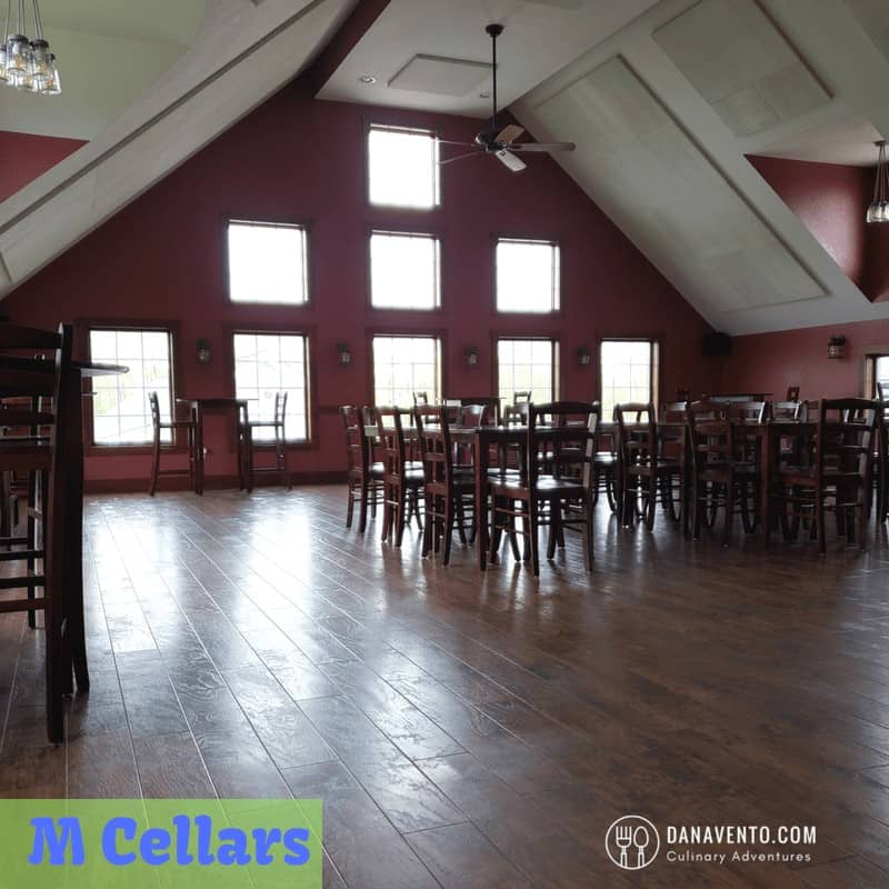 Large tasting room at M Cellars. Wine Country in Ohio