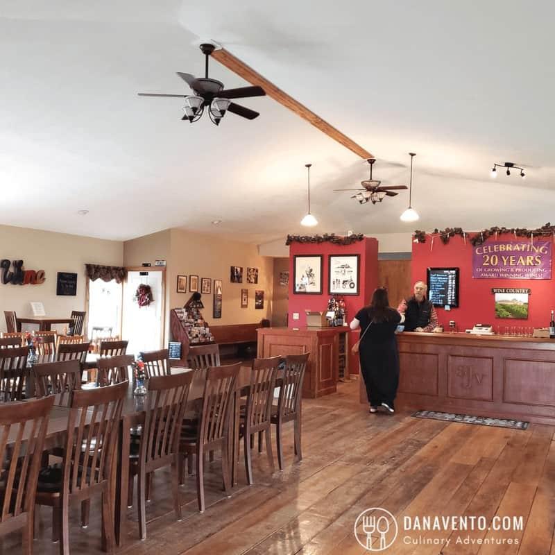 Wine Country in Ohio inside St. Joseph's Vineyards