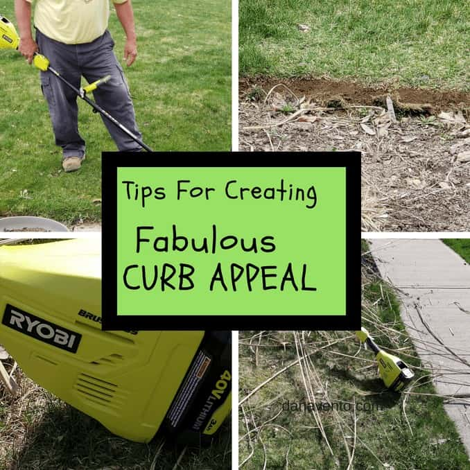 4 different images of curb appeal cleanup