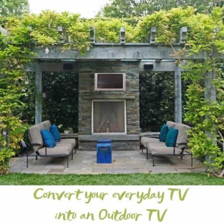 Convert an indoor tv into an outdoor tv fireplace tv
