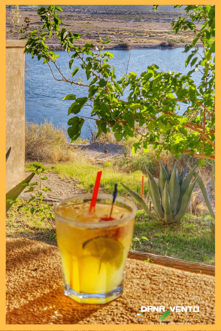Margarita with Cattleman's Steakhouse Property in background