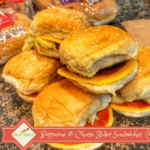 Pepperoni and Cheese Slider Sandwiches