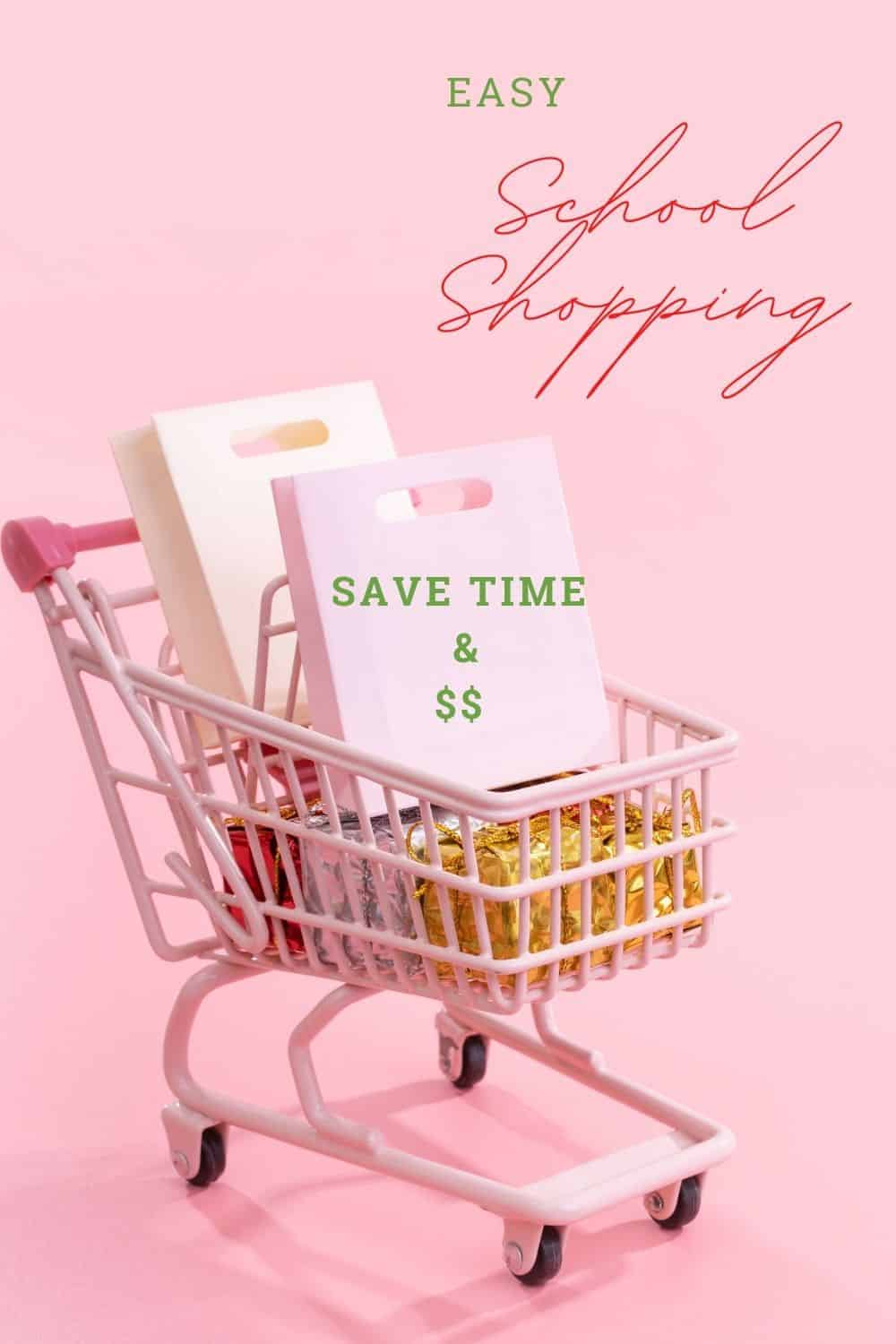 easy school shopping with cart