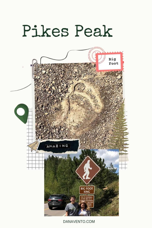 Big Foot Stop Pikes Peak Big Foot Foot Print