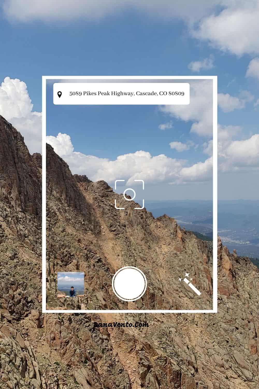 Pikes Peak GPS address- descending down Pikes Peak