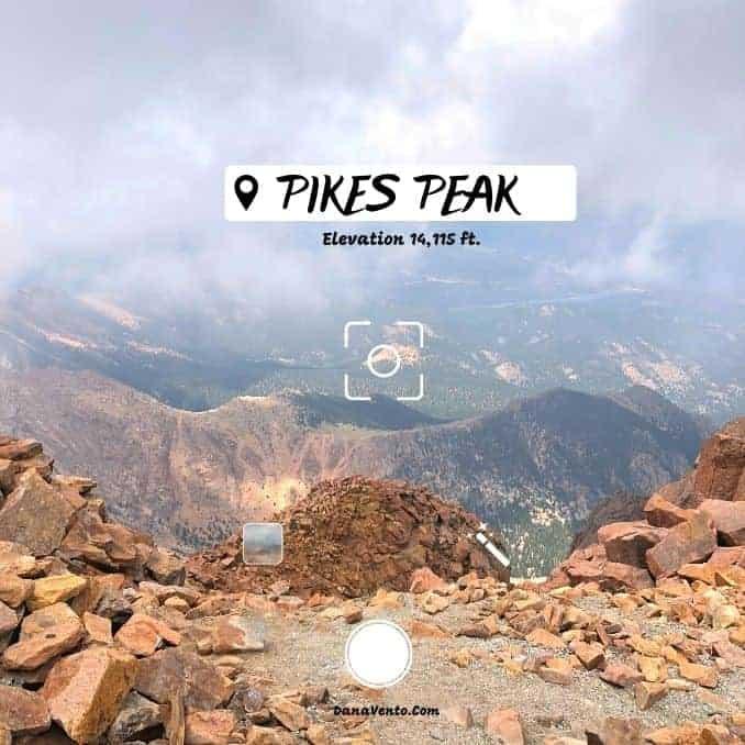 Mesmerizing Pikes Peak. Elevation 14,115 feet