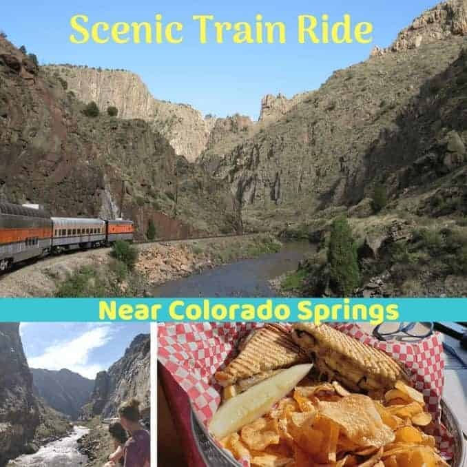 Scenic Train Ride Near Colorado Springs In Royal Gorge Region, Road Tripping Destinations From Colorado Springs, Canon City, Railroad Royal Gorge Route Railroad, things to do, eat and drink aboard train, train eats, train drinks, scenery, Gorge Walls, Arkansas River, Rafters, Tracks, 12 MPH