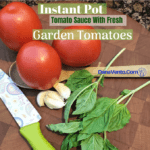 Instant Pot Tomato Sauce With Fresh Garden Tomatoes