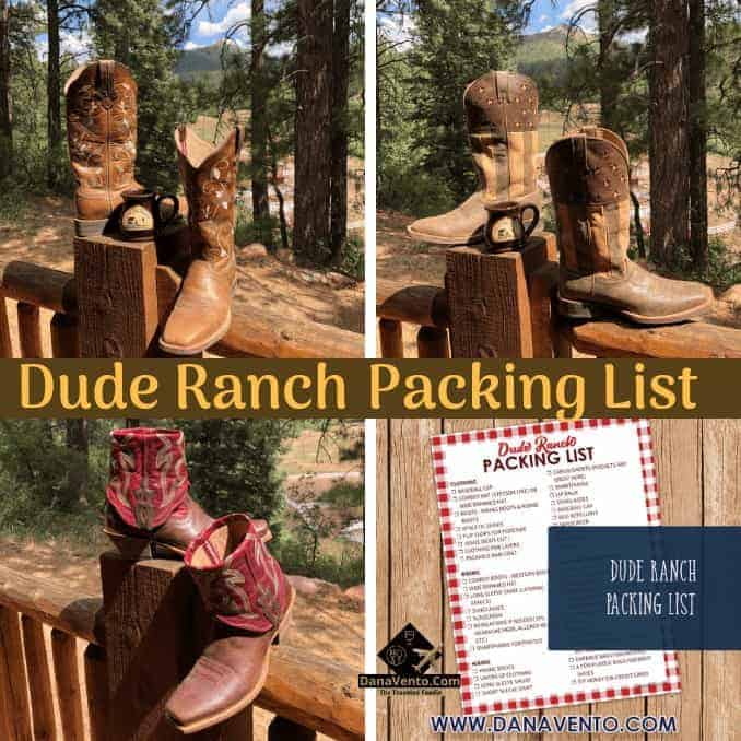 Packing List For Dude Ranch Vacations And Fashion Tips, boots, riding boots, hat, sunglasses, bug spray, meds, dress clothes, bathing suits, what to wear, what to pack, free printable packing list for dude ranch, Colorado, Colorado Ranch Vacation, Dude Ranchers, Gourmet eats, eat and drink, all-inclusive food, foodies, on my plate, good eats, vegetarian, vegan, meatless, proteins, sweets, Brian, Tiffany, Chef Brian, Grilling, indoor dining, Adults Only Dining, Wine, and Beer, Ranch Vacation, Family Ranch Vacation, Durango, Horseback Riding, Travel, Travel with family, reunions, anniversaries, returning guests, parties, weddings, get away, week, adventure, outdoor adventures, whitewater rafting, fly fishing, fishing, fishing trips, New Mexico, shopping, Trading Post, Ruckus Room, Dining Hall, Dinner Bell, Chef, Gourmet Eats, Cabins, bunk beds, porches, scenery, scenic, Horse Trails, Hiking, Horse Drawn Wagon, Tractor Pulls, Hayrides, Swimming, Line Dancing, Ice Cream Social, Music, Adult Dinner, Kid counselors, personalized time, holidays, summer travel, in the mountains, trap shooting, 22 shooting, bb guns, volleyball, basketball, archery, all-inclusive, lifestyle, adventure travel, travel, travel as a family, traveling, traveling together, traveling solo, travel and adventures, travel time, travel in USA, destinations for travel, travel destination, travel and fun, fun and traveling, adventures of a family, family adventures traveling, travel places, travel around, travel by car, travel by plane, airplane travel, airplane seats, traveling with kids, traveling with teens, traveling as a family, traveling as a couple, trips, viaje, vacaciones, walk, bus, globetrotting together, globetrotting solo, no passport required, travel with passports, travel without passports, pack, luggage, backpacks, travel bags, travel things, travel timing, travel planning, what you need to know, hotels, lodges, resorts, luxury travel, bucket list, travel blog, travel blogger, travel the w