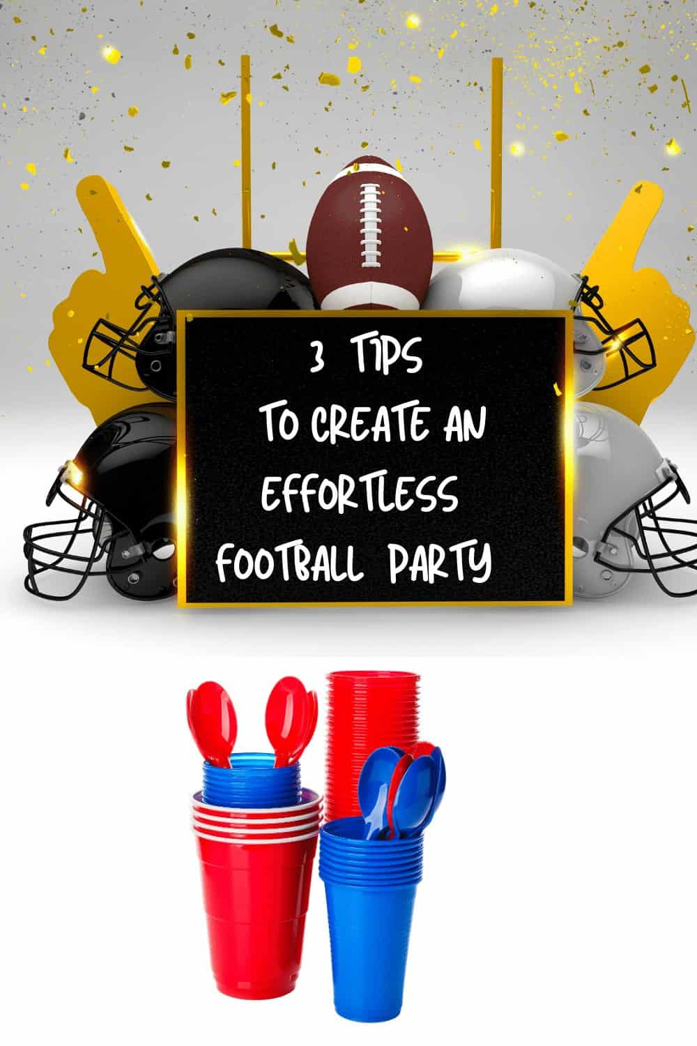 Plastic wares for football parties