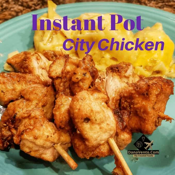 Instant pot City Chicken on plate