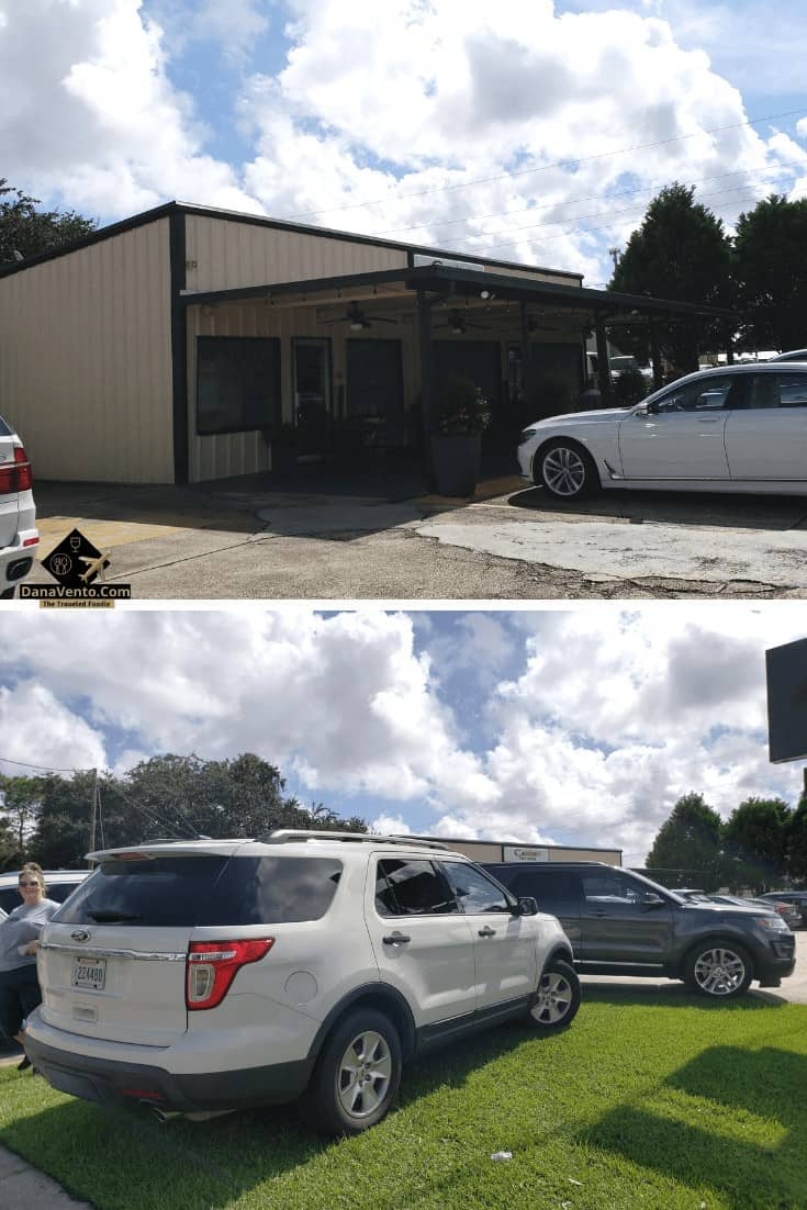 parking at Castellano's in Bayou Country - Bayou Country Lunch Destinations