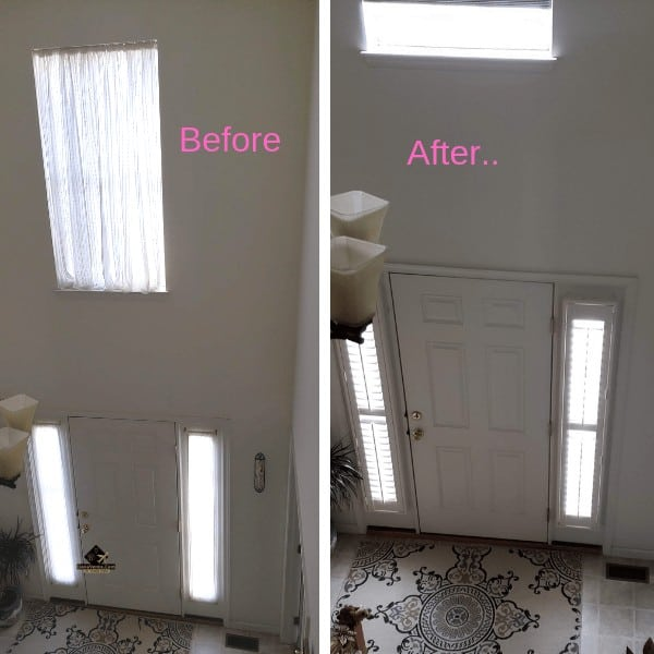 Before and After Shutter Installation