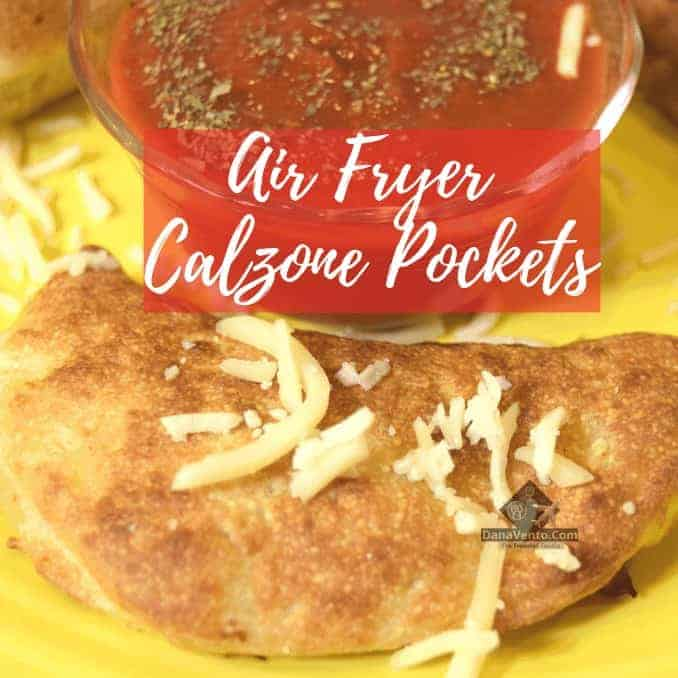 Air Fryer Calzone Pockets on plate