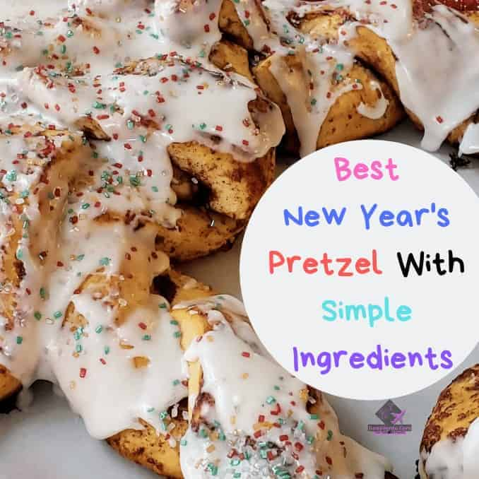 Best New Year's Pretzel With Simple Ingredients, easy to make, fast to make, New Year's, New Year, Pretzel, Good Luck, tradition, eat, baked goods, canned dough, bake, parchment paper, Happy New Year, New Year's Day, New Year's Eve, Strike of Midnight