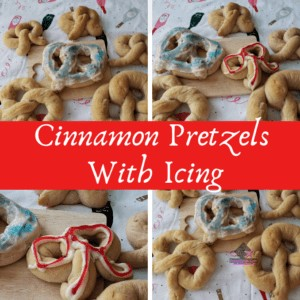 Cinnamon Pretzels With Icing