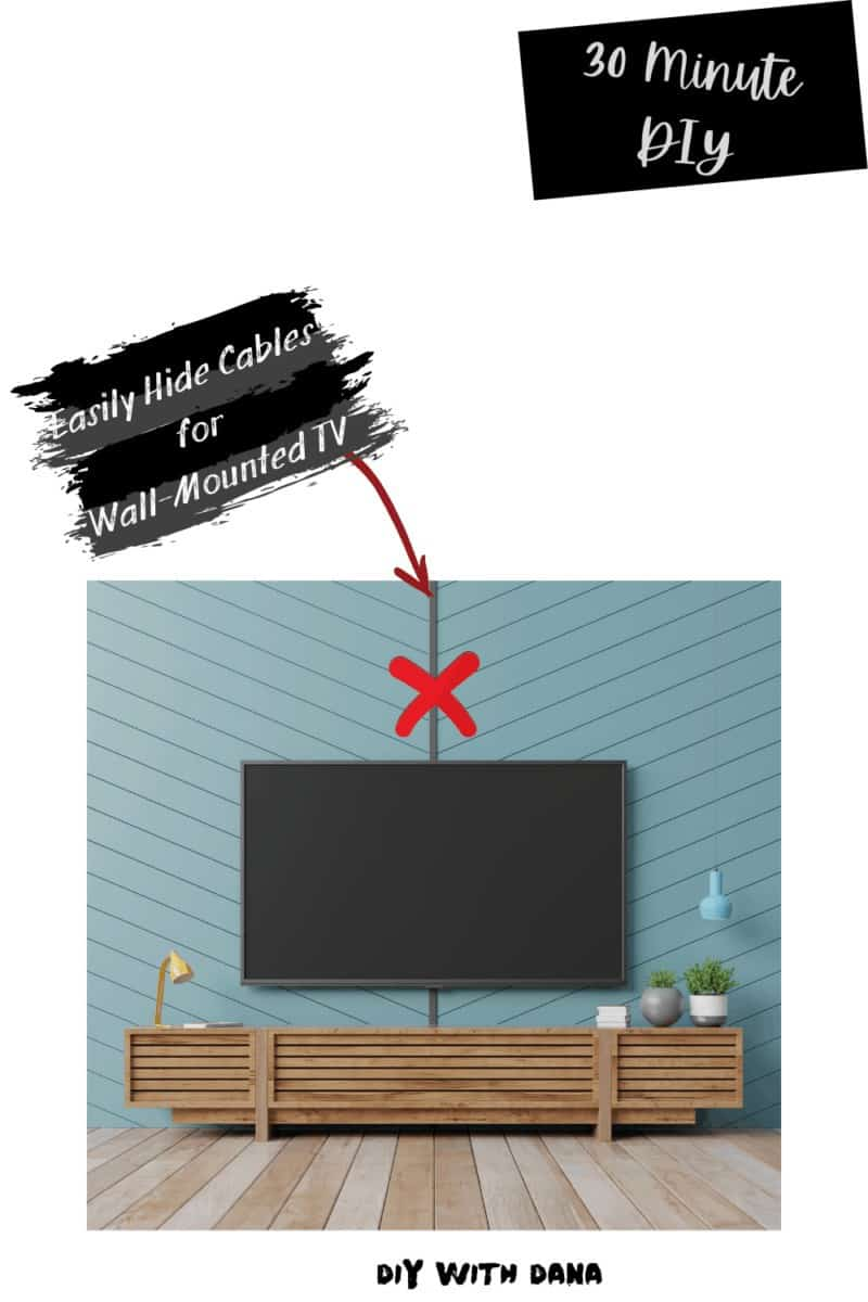Hide Cables Easily For A Wall Mounted TV 30 Minute DIY pvc