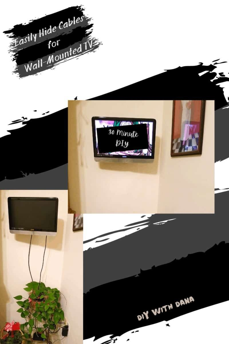 Hide Cables Easily For A Wall Mounted TV Before and After