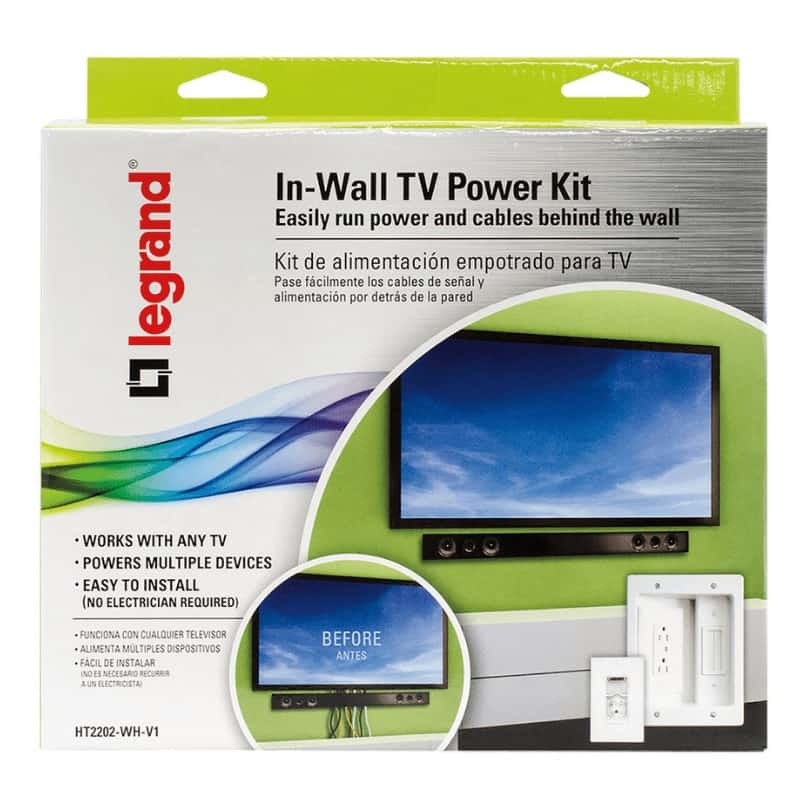 Box for the Legrand, Home Office & Theater, In Wall TV Power Kit