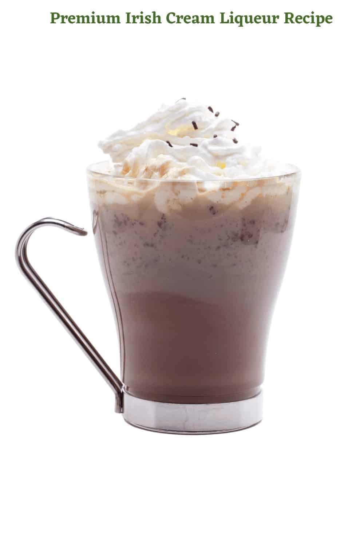 Premium Irish Cream Liqueur Recipe in coffee