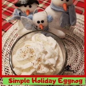Simple Holiday Eggnog